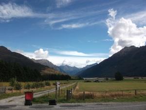 Stunning scenery on way to lake Wanaka